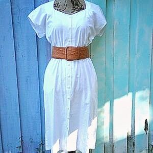 Vintage 100% cotton button down dress